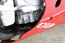 1987年モデルのFZR400Rリミテッドで初採用された排気デバイスEX-UP は、90年モデル以降でも継承されている。