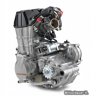 SOHC化されたエンジン