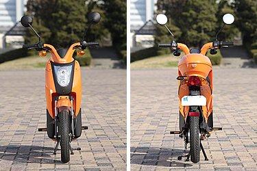 数ある電動バイクの中でも、デザイン的なチャレンジをしている車両はまだ極少数。そのうちのひとつがミレットです。外装は、樹脂パーツを多用してボディ色の占める割合が多く、そうした工夫も見た目の軽快さにもつながっていると言えます。ミレットのデザインは、ユーザーの所有欲をくすぐるような魅力がありますね