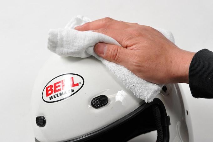 バイク用ヘルメットのお手入れ予備知識の画像
