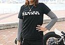 design vintage halogre の 発泡プリント DESIGN VINTAGE T-shirt BLACK を愛用。プリントではなく盛り上がった文字が特徴。