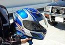 ヘルメットはブルーのRAFALE(ラファール)。こちらは車体のカラーリングに合わせてチョイス。