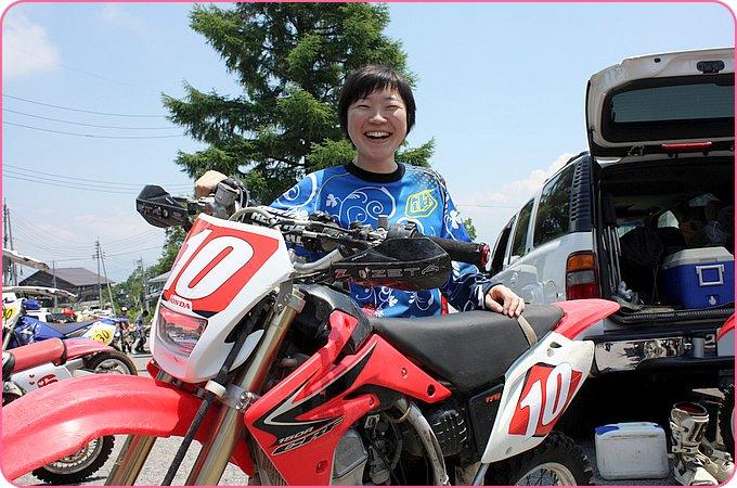 しのさんとホンダ CRF150R2