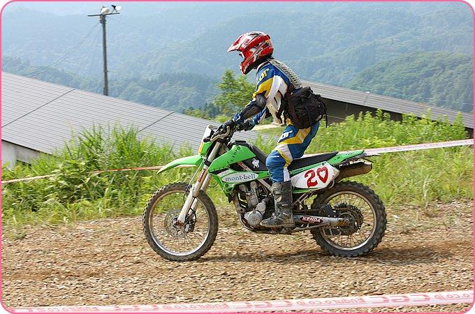 カワサキ KLX250での走行写真