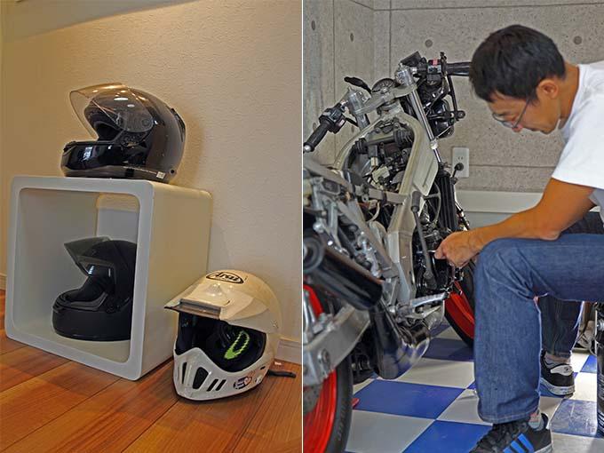 【新型コロナに負けるな!ガレージライフ】ビルトインガレージはバイクだけにすることで、念願のガレージハウスを実現の画像04