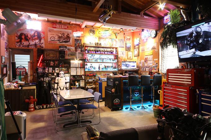 【新型コロナに負けるな!ガレージライフ】オトーサンがDIYでコツコツと仕上げ、親子で楽しめる素敵なガレージを構築の画像04