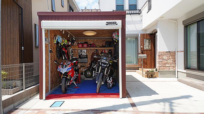 【新型コロナに負けるな!ガレージライフ】バイクライフを満喫するために選んだ場所に、バイクライフを充実させるために選んだガレージのメイン画像