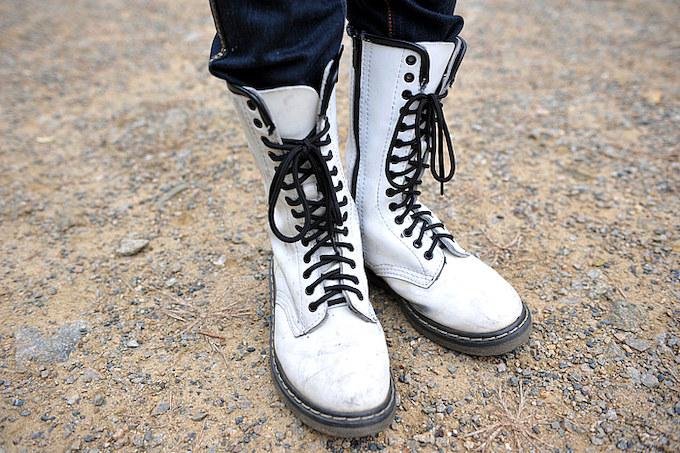 マーチンのブーツは長年愛用して馴染んでいるためシフトチェンジも問題無いそうだ。