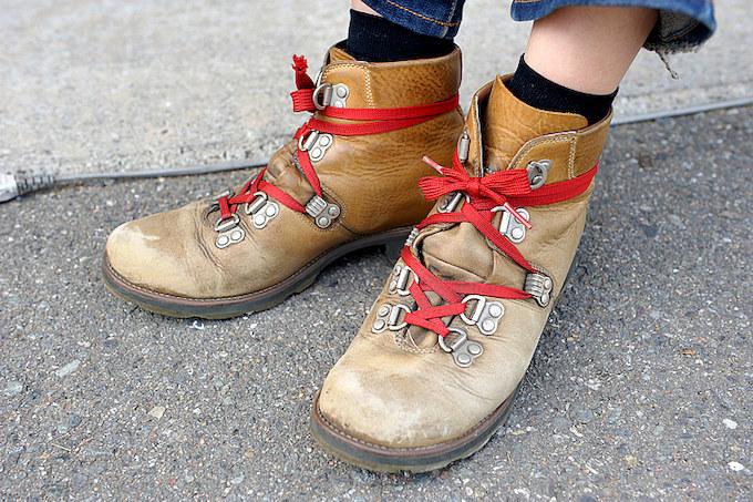 普段履きとしても長年愛用するティバーランドのブーツ。