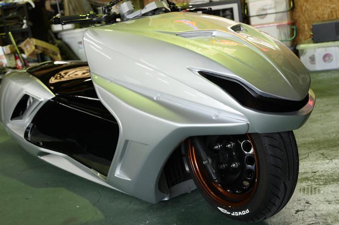 細部に渡りこだわりが凝縮されたビッグスクーターカスタム!速さを楽しむためのマグザムスタイルのカスタム06画像