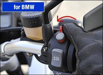 BMW R1200GSなどの足長バイクの場合、足を地面に着くのもひと苦労。停止してからローギヤに入れようとすると、何回も左右の足を着き直して面倒だし、立ちゴケのリスクも高まります。ローギヤで停止したら、そのままキルスイッチでエンジンを止めてしまいましょう。あとは降りるだけ。