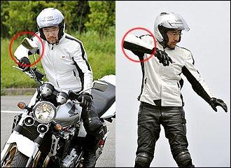 左のUターンも出来るとライディングの幅が広がります。車体を傾けるほど右手は高くなります。スロットルは外側から斜めに、小指と薬指で軽く握るようにするとスムーズに操作できるはずです。左ターンはまさに「弓を射る」イメージで、右手に合わせて右肘を高く構えると懐にゆとりができます。