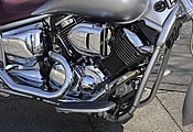 エンジンはノーマルだが、吸排気の変更によるキャブセッティング済み。快適なライディングを約束する。エアークリーナーはプロハイパーチャージャー。