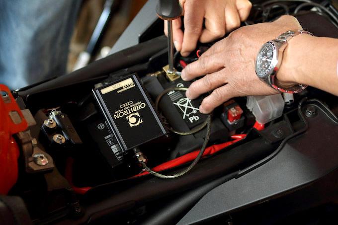 パワーモジュールで車体の静電気を除去するの画像