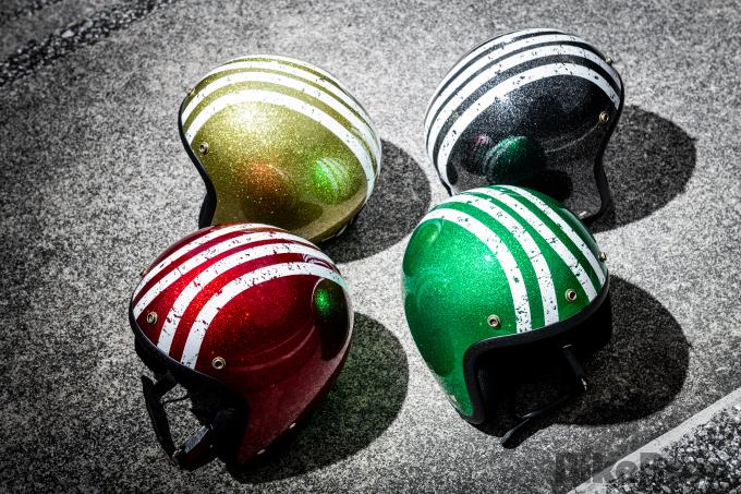ビンテージ感を強調した『リード工業』のジェットヘルメット3種の画像