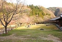 ここへ来たら是非チェックしてもらいたいのが本館裏の庭園だ。清流馬瀬川を間近に見ながら春には桜、秋には山々の紅葉と、飛騨の四季を感じられる心地良い空間となっている。食事処のテラスもアリ。