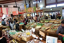 最も混雑していた農産物直売所は、正面向かって右手に位置する。旬の農作物が豊富に揃い、建物裏の駐車場からも出入りが出来るようになっていて、お客さんの流れは途切れることなく常に賑わっていた。