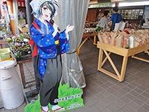 こちらは松川村職員イメージキャラクターの雨引かなでちゃんです。村民には普及しているようでした。かなでちゃんがおすすめする豆、米はおいしそうですね。