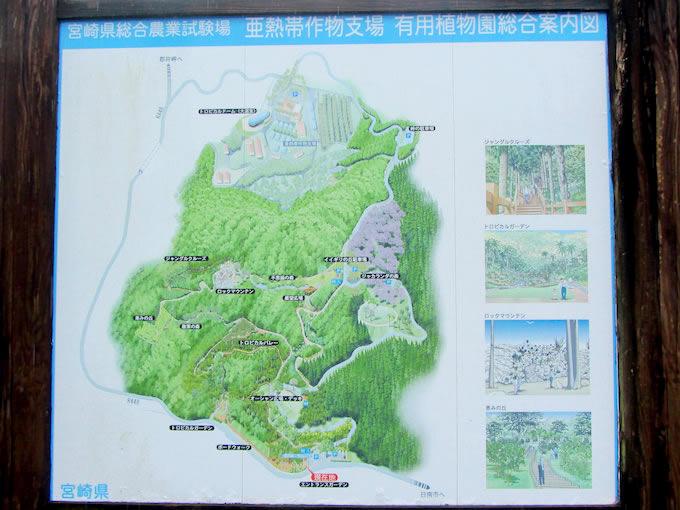 道の駅の裏山には宮崎県総合農業試験場があります。場内は無料で開放されていて、大温室は南国の樹木が植わっています。試験場の展望台から見る日南海岸は絶景ですよ。