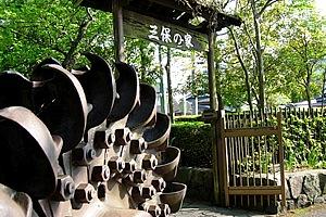 三保の家。湖底に水没した世附地区で使われていた江戸時代末期の民家を移転復元したもの。