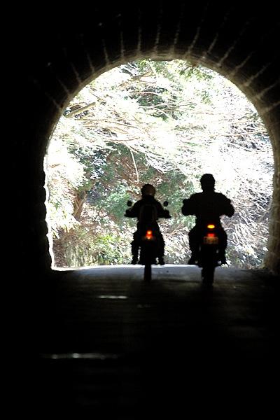 小説「伊豆の踊子」や「天城越え」で有名な旧天城トンネル。馬蹄形をした切り石造りで、石造道路トンネルでは日本最長。国の重要文化財である。