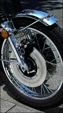 フロント回りはZやマッハなどに似ているが、唯一標準でダブルディスクを採用している。インナーチューブ径は36φ。
