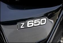 ベースモデルは通称ザッパーことZ650B。当時、このモデルに追い掛け回されたナナハンライダーは数多くいるはずだ。「Z650」のサイドカバーロゴが誇らしげである。